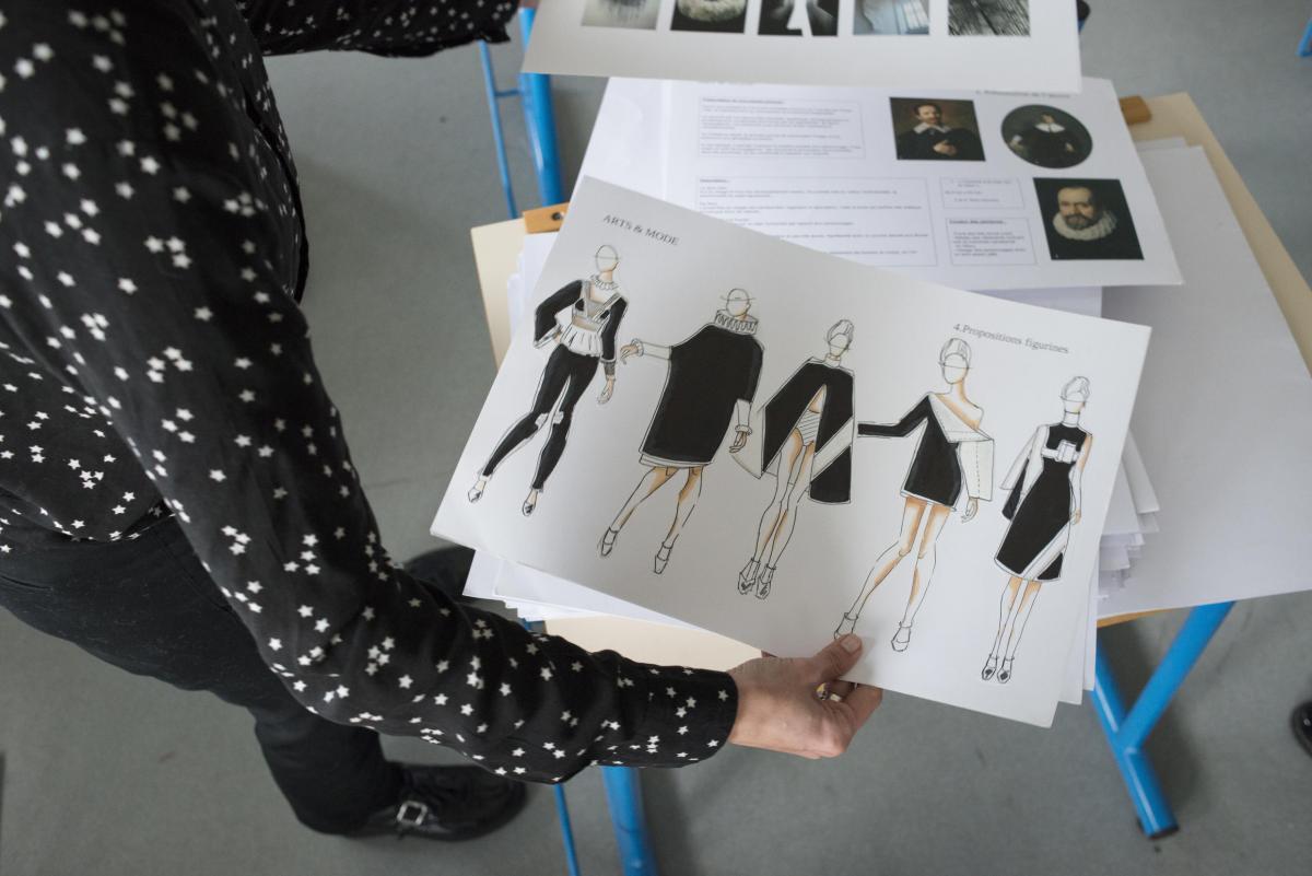 D fil de mode inspir des collections permanentes lyc e for Atelier couture a bordeaux