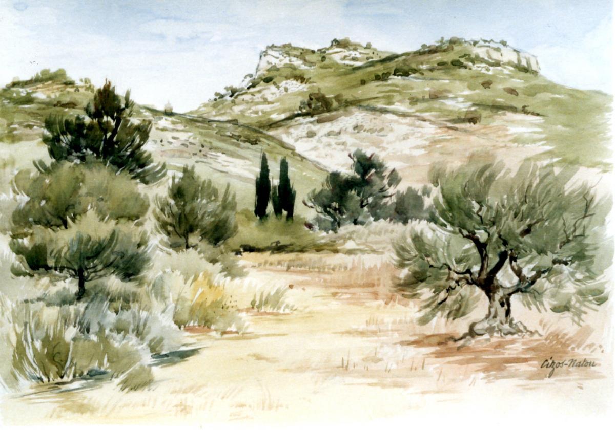 Pierre Cizos-Natou. Baux-de-Provence, 1990. Collection particulière