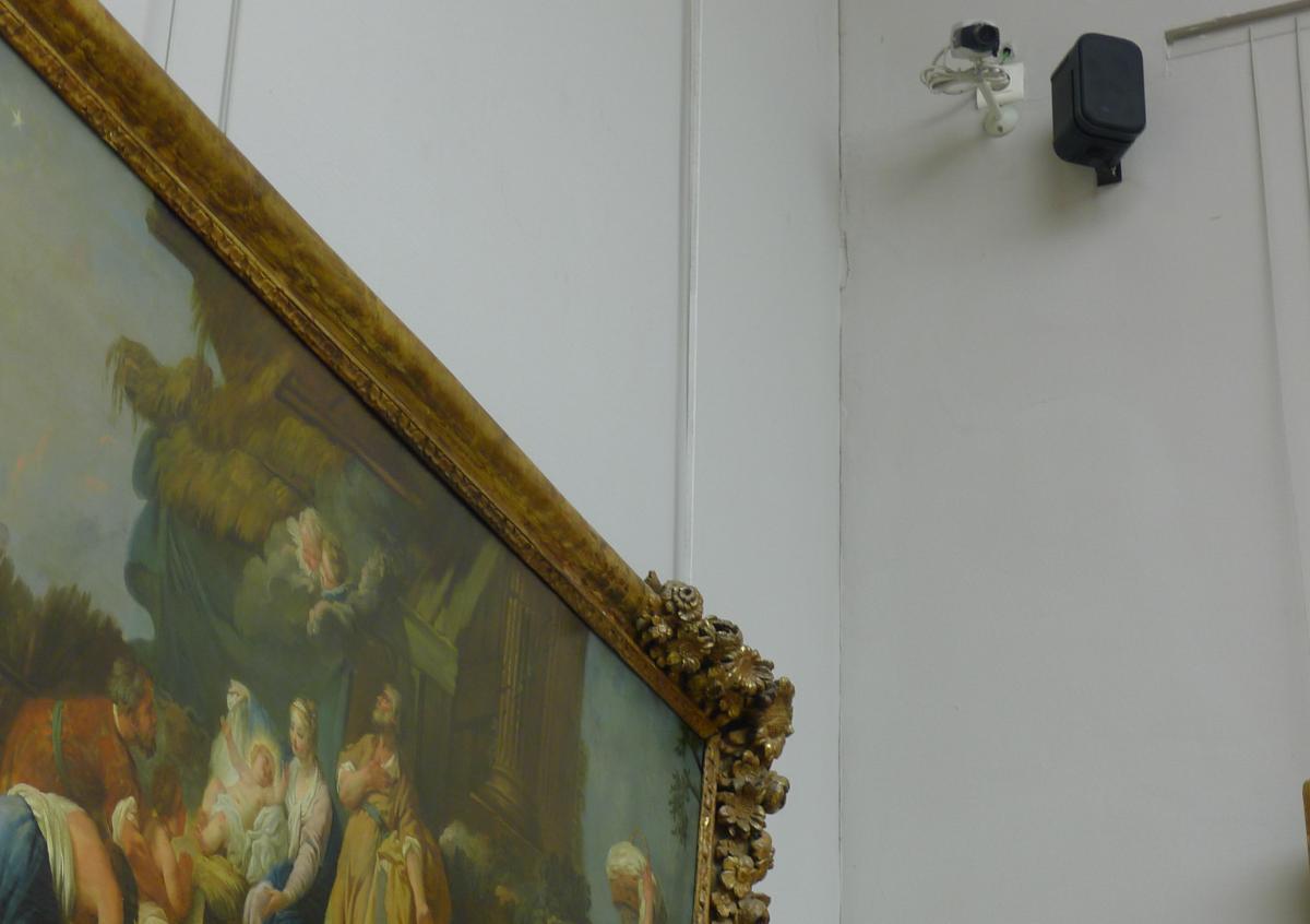Camera et alarme sonore