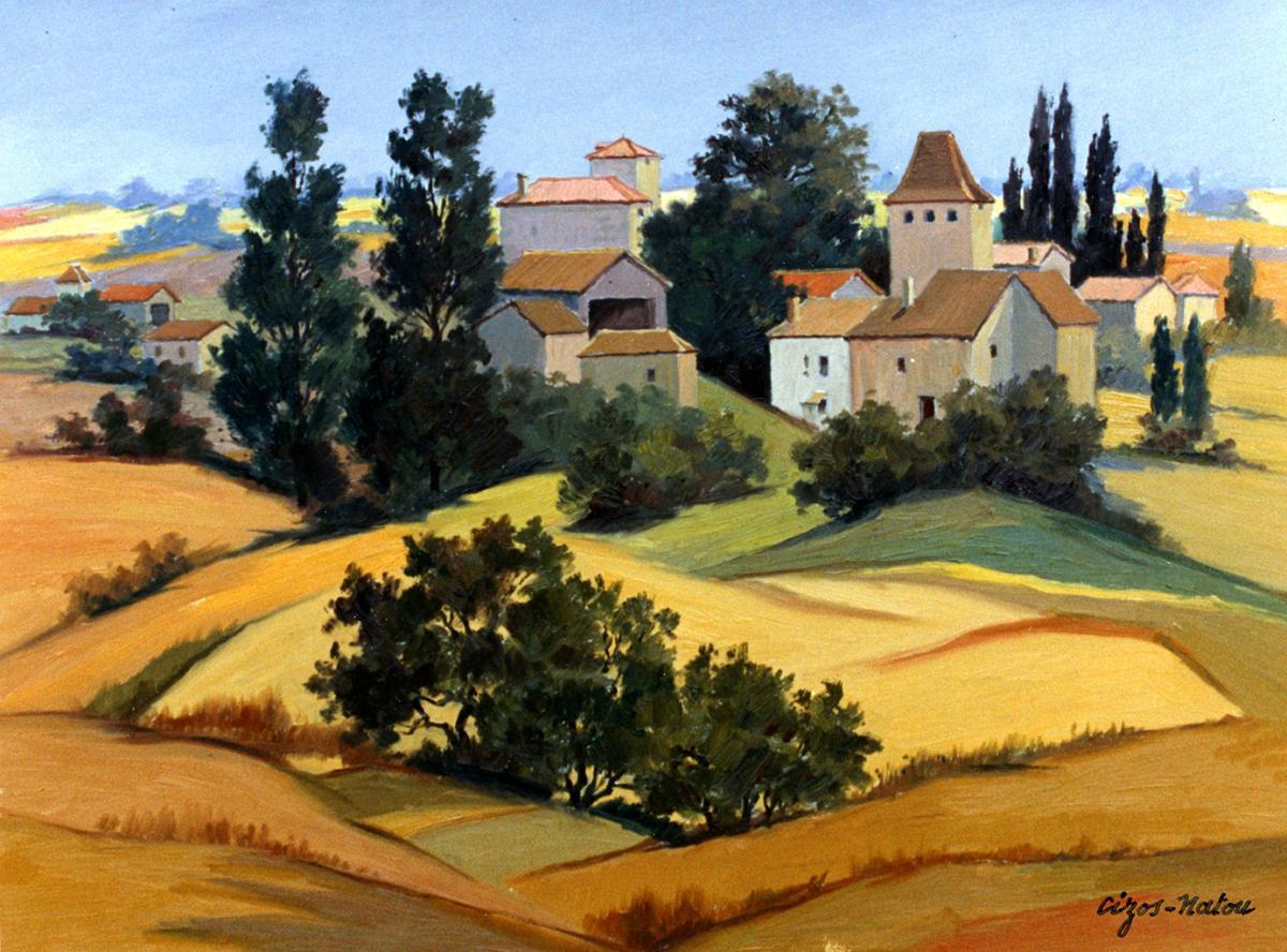Pierre Cizos-Natou.Cezan (Gers), 1991. Collection particulière