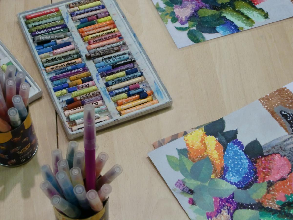 Photos d'un atelier (crayons)