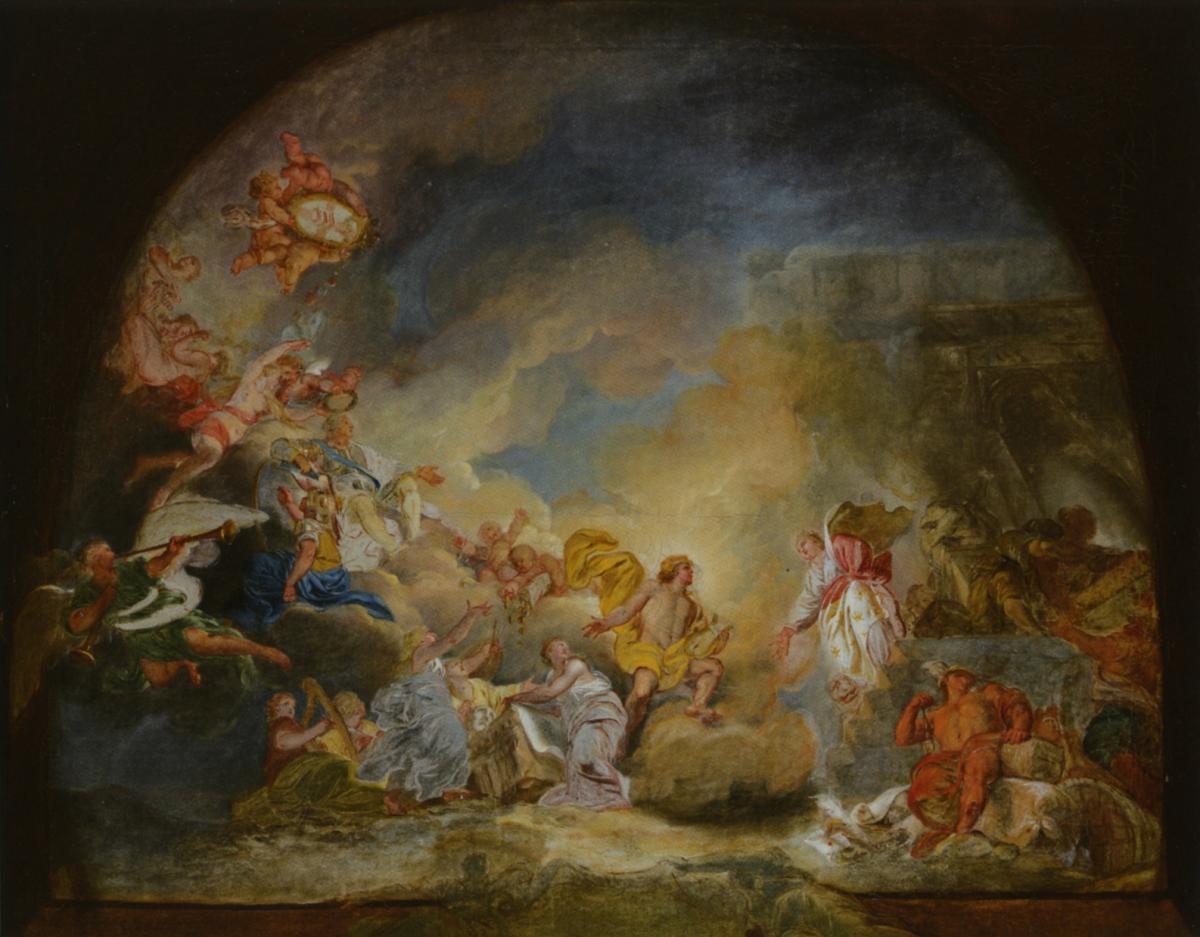 Don de la société des amis du musée - Pierre Lacour - Projet pour le plafond du Grand-Théatre