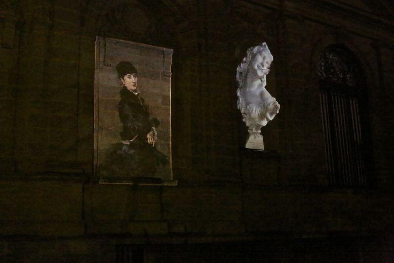Image de la projection sur le musée