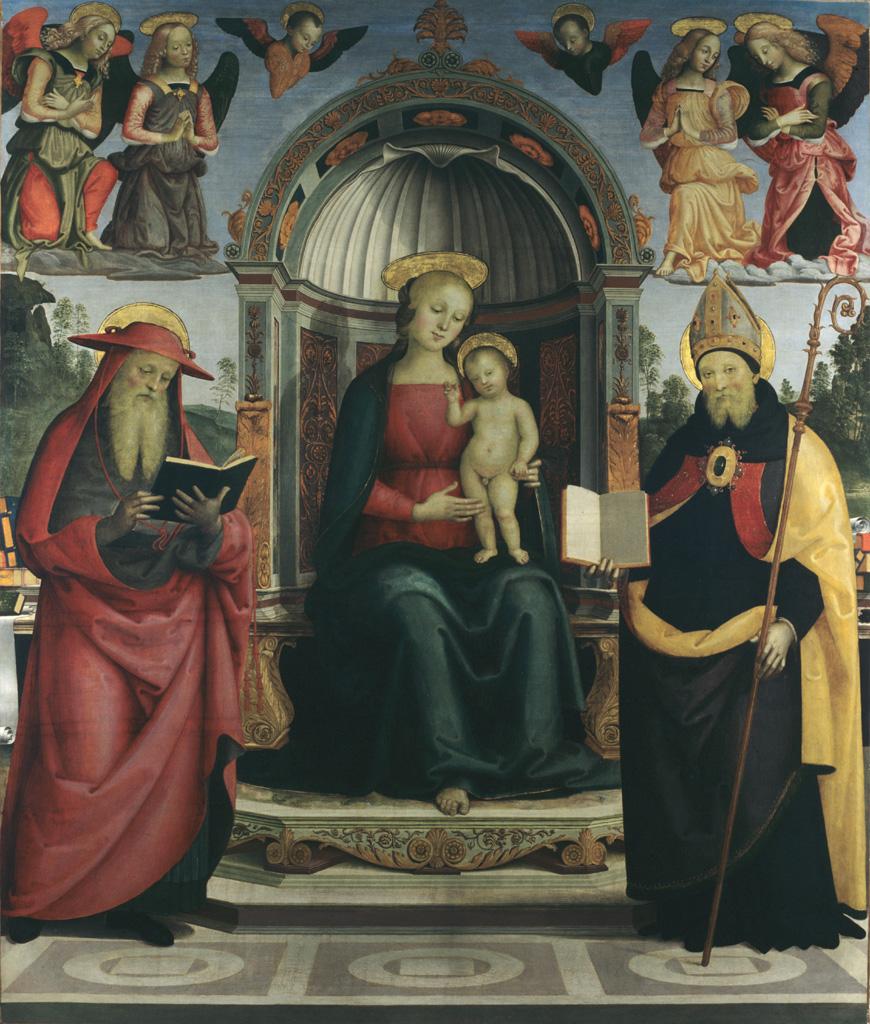 Vierge et l'Enfant entre saint Jérôme et saint Augustin du Pérugin (v. 1450-1523) © Musée des Beaux-Arts-mairie de Bordeaux. Cliché L.Gauthier