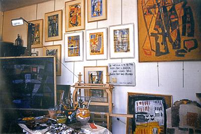L'atelier d'Odette Boyer Chantoiseau, vers 1954. Collection particulière
