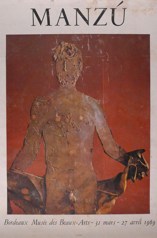 """Lien vers la documentation de l'exposition de 1969 """"Manzu"""""""