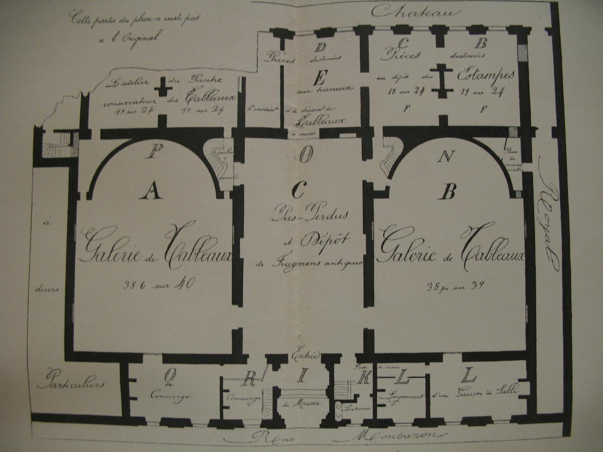 Plan d'aménagement. Bonfin.1820 © Archives municipales-mairie de Bordeaux.