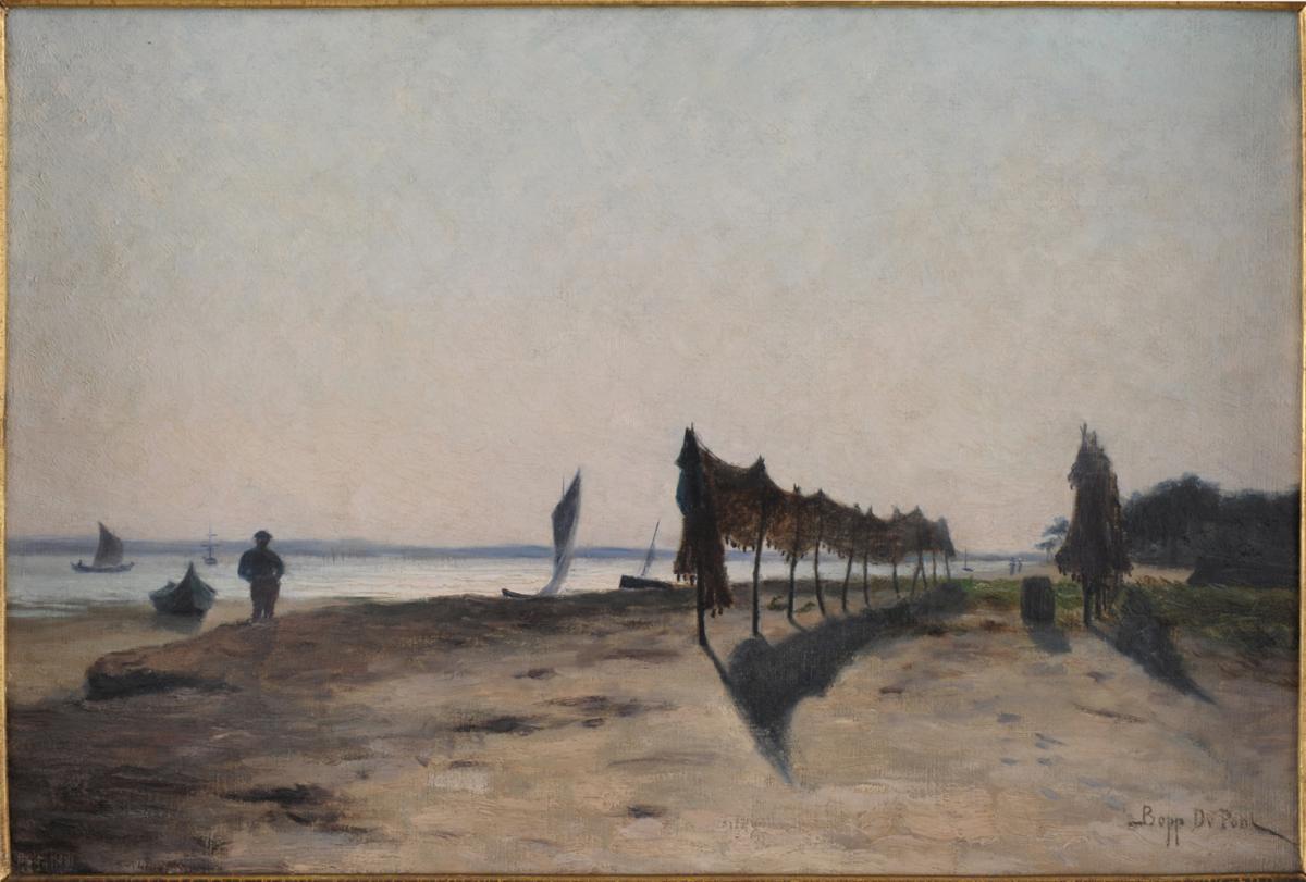 Une rive du Bassin d'Arcachon. Léon Bopp du Pont