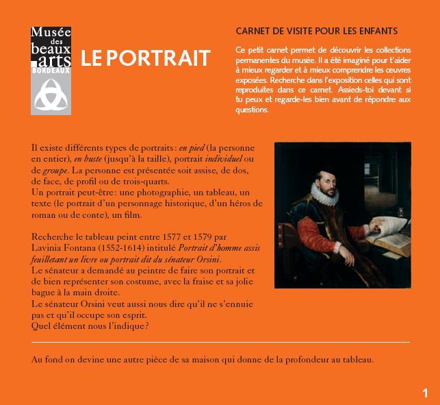 """Carnet pdf. """"Le portrait"""""""