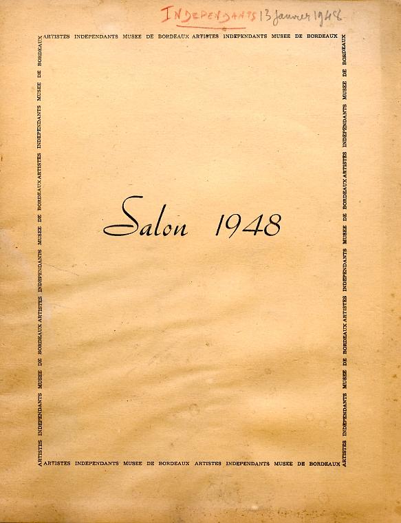 Lien vers le catalogue du salon des Artistes Indépendants Bordelais 1948