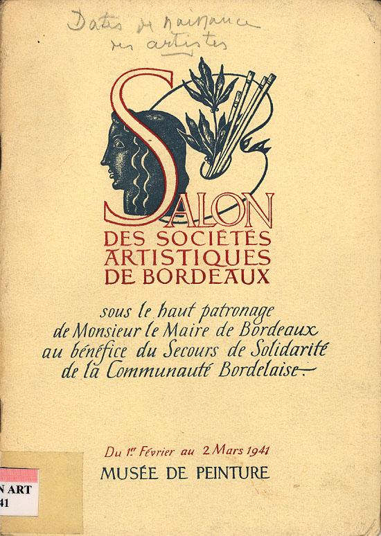 Lien vers le catalogue du salon des Artistes Indépendants Bordelais 1941