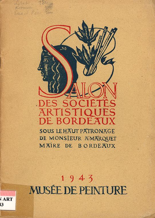 Lien vers le catalogue du salon des Artistes Indépendants Bordelais 1943