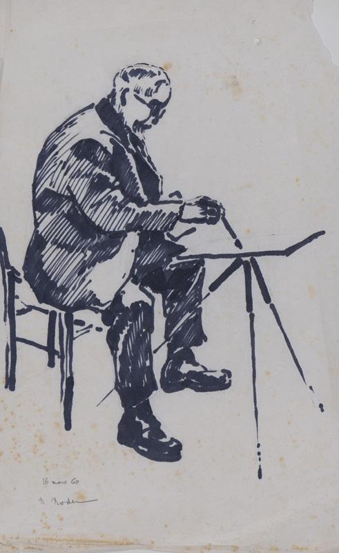 R. RODES, Le docteur Sautarel, Feutre, 1960. Collection particulière