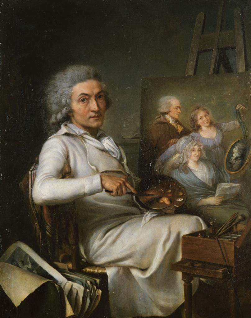 L'Artiste peignant un portrait de famille. Pierre LACOUR père. 1798 © Musée des Beaux-Arts-mairie de Bordeaux. Cliché L.Gauthier