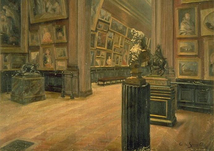 Intérieur du musée des Beaux arts de Bordeaux.Gerges de Sonneville. 1907 © Musée des Beaux-Arts-mairie de Bordeaux. Cliché F.Deval
