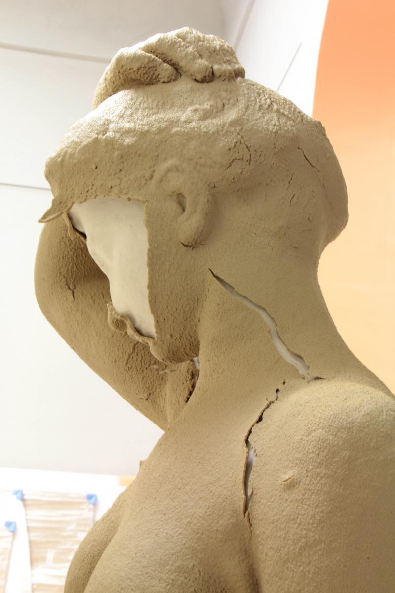 Restauration d'une statue de Lucien Schnegg ©Musée des Beaux-Arts-mairie de Bordeaux. Cliché M.Crubilé