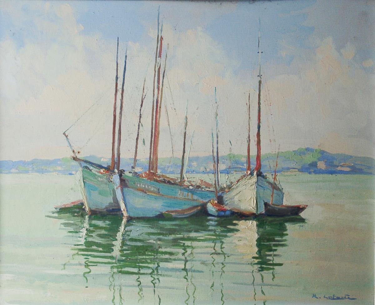 R. Lataste-Sabatié. La Baie de Menton. Collection particulière