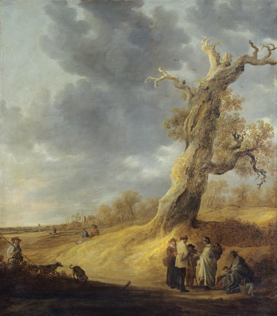 Le Chêne foudroyé ou la diseuse de bonne aventure. Jan Josefsz. VAN GOYEN.1638.© Musée des Beaux-Arts-mairie de Bordeaux. Cliché L.Gauthier