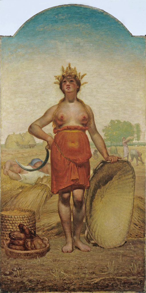 L'Eté ou Cérès. Jean François MILLET.1864-1865. © Musée des Beaux-Arts-mairie de Bordeaux. Cliché L.Gauthier