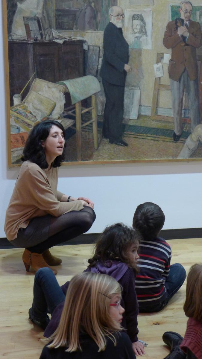 Photo d'une visite d'enfants en maternelle© Musée des Beaux-Arts-mairie de Bordeaux. Cliché A.Desclaux