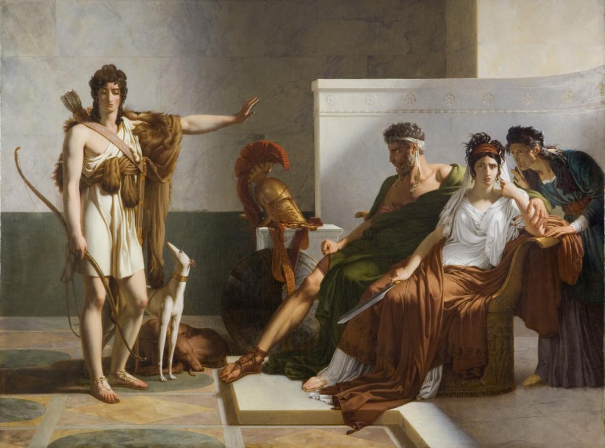 Phèdre et Hippolyte. Pierre Narcisse baron GUERIN. 1815. © Musée des Beaux-Arts-mairie de Bordeaux. Cliché L.Gauthier