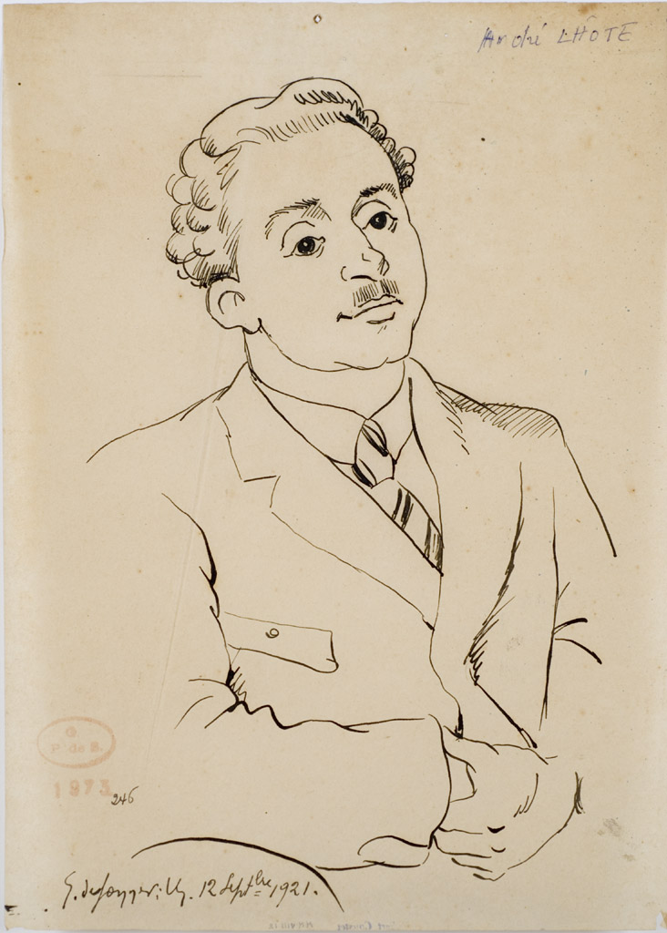 Portrait d'André Lhote. Gerges de Sonneville.