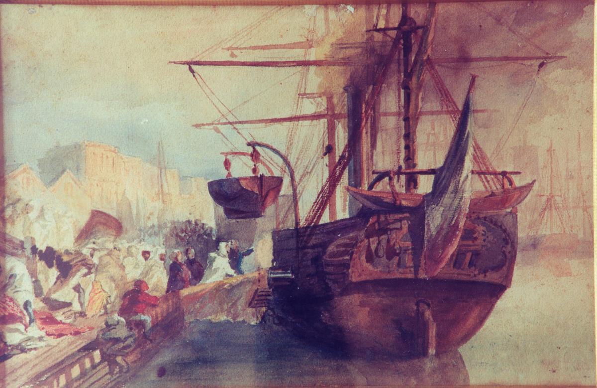 L'embarquement d'Abd-el-Kadher à Bordeaux.Stanislas Gorin