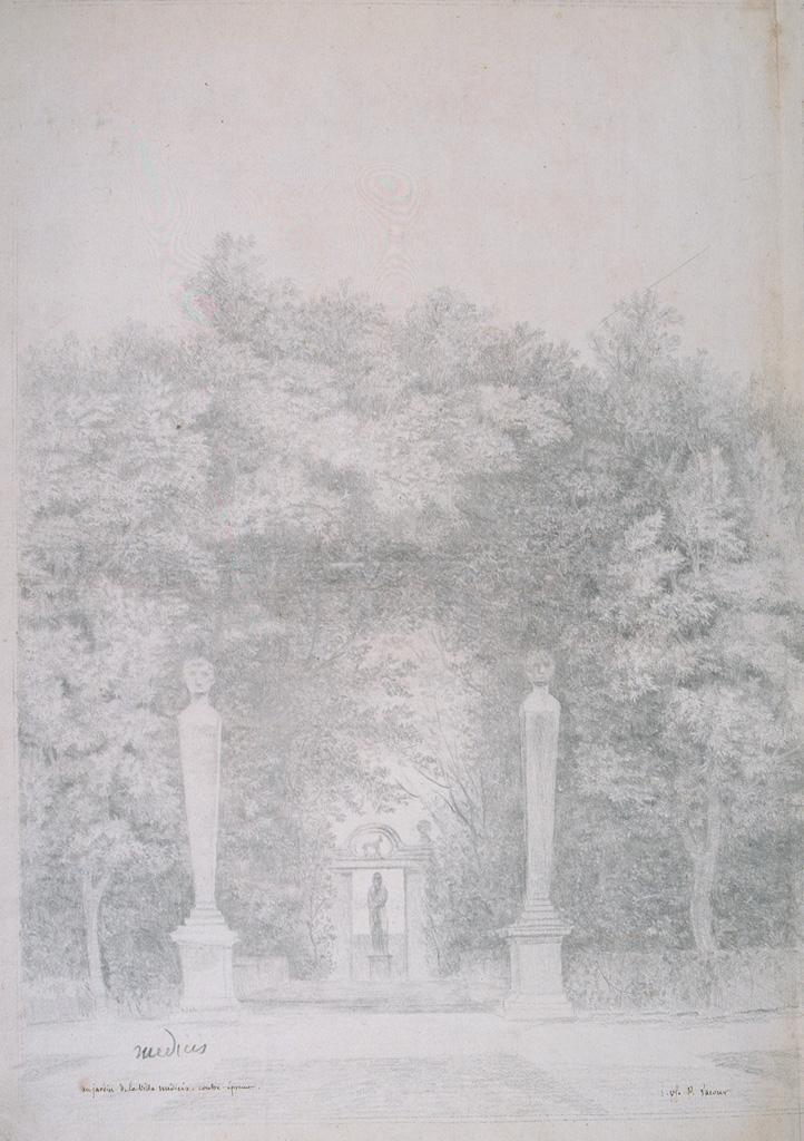 Vue des jardins de la villa Médicis, par Pierre Lacour