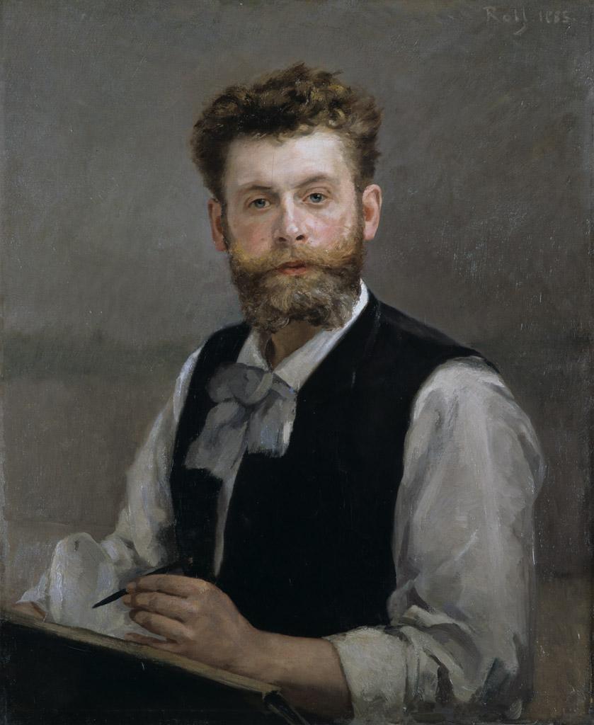 Alfred Roll, Autoportrait © Musée des Beaux-Arts - Mairie de Bordeaux. Cliché L. Gauthier