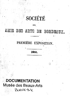 Lien vers la copie PDF image du catalogue de la Société des Amis des Arts de Bordeaux, 1851