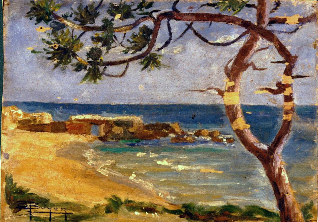 Odette Boyer-Chantoiseau. Paysage, 1925. Collection particulière