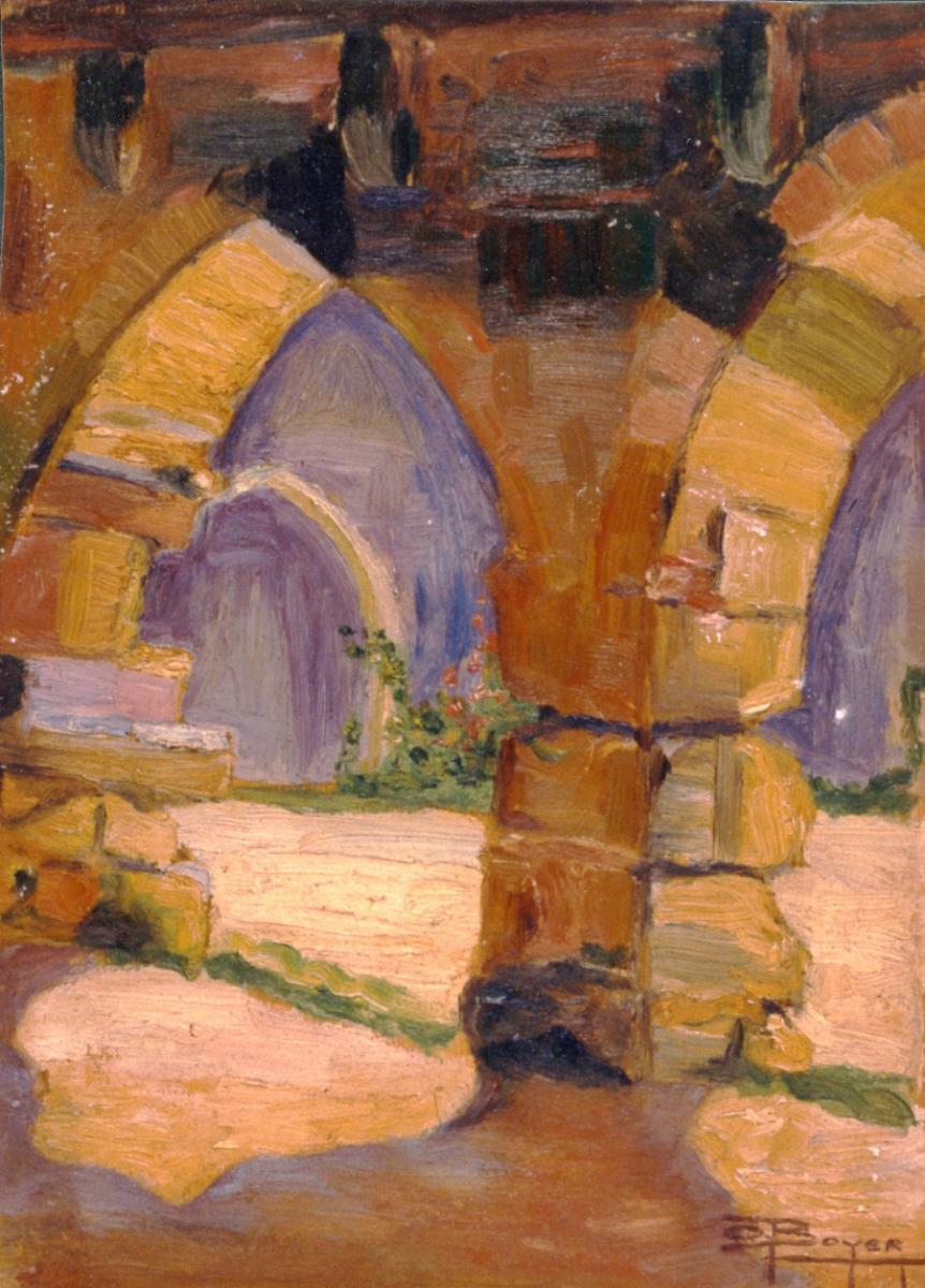 Odette Boyer-Chantoiseau. Paysage, 1927. Collection particulière