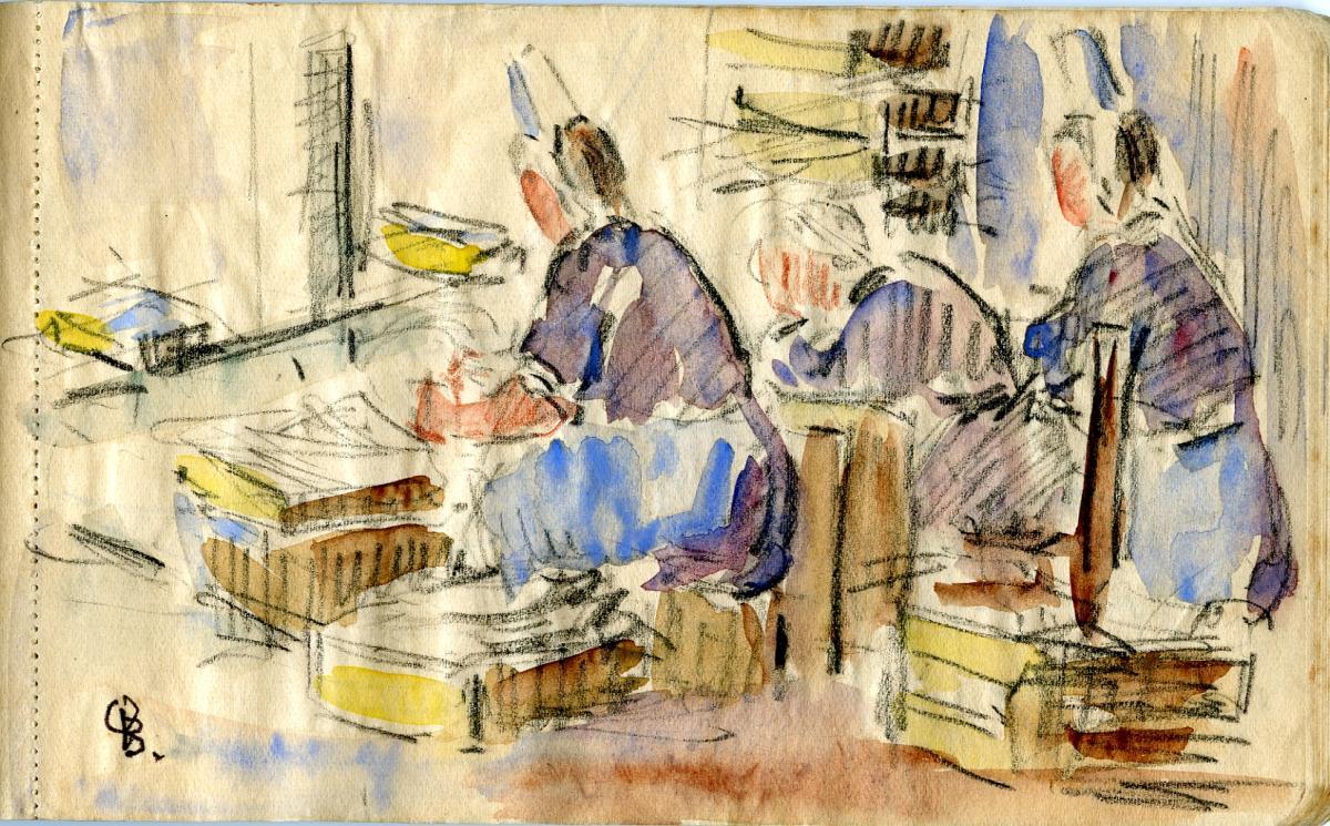 Odette Boyer-Chantoiseau. Bretagne, étude, 1928. Collection particulière