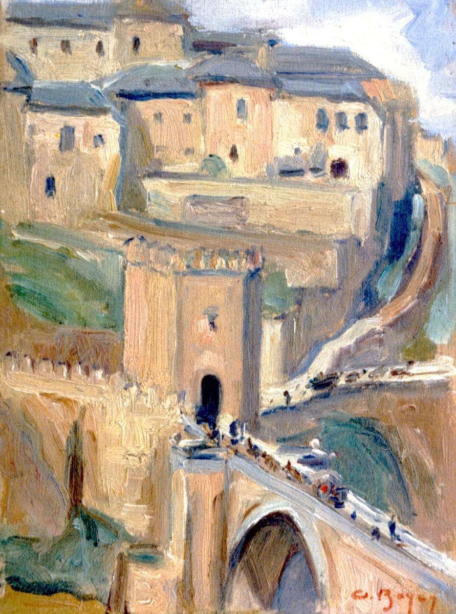 Odette Boyer-Chantoiseau. Tolède, 1928. Collection particulière