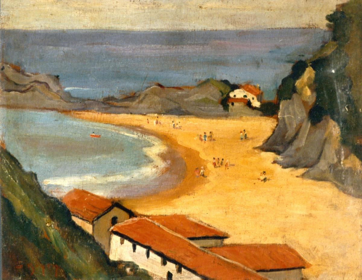 Odette Boyer-Chantoiseau. Paysage, 1928. Collection particulière