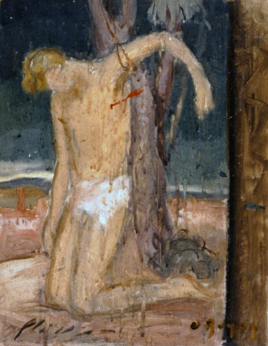 Odette Boyer-Chantoiseau. Etude pour saint Sébastien, 1929. Collection particulière