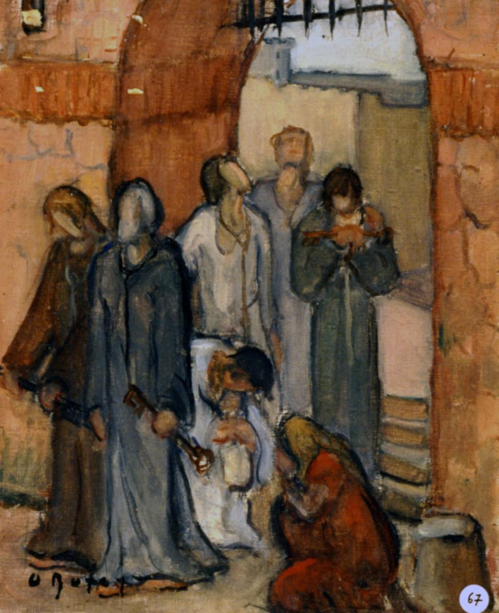 Odette Boyer-Chantoiseau. Sujet religieux, 1929. Collection particulière