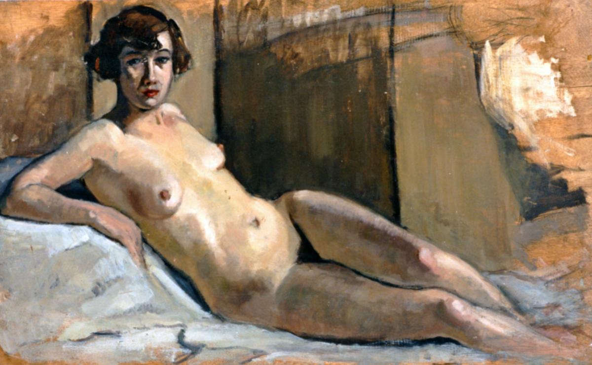 Odette Boyer-Chantoiseau. Etude de nu,1930. Collection particulière