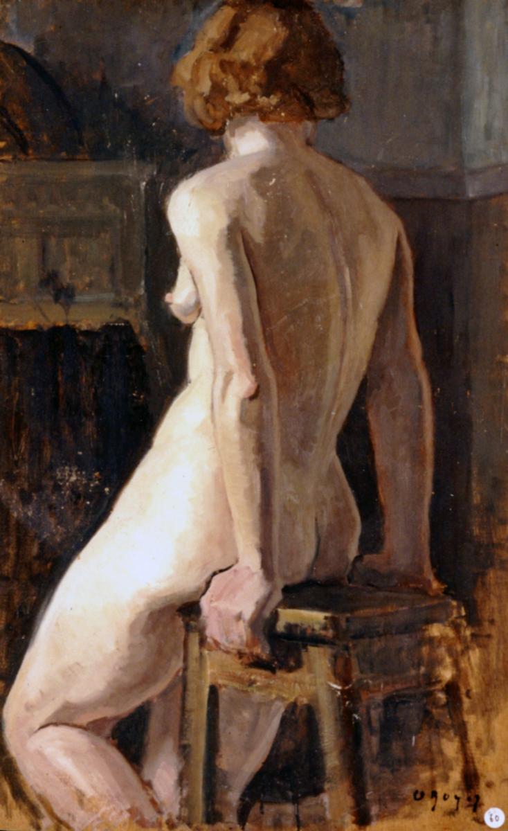Odette Boyer-Chantoiseau. Etude de nu. Collection particulière