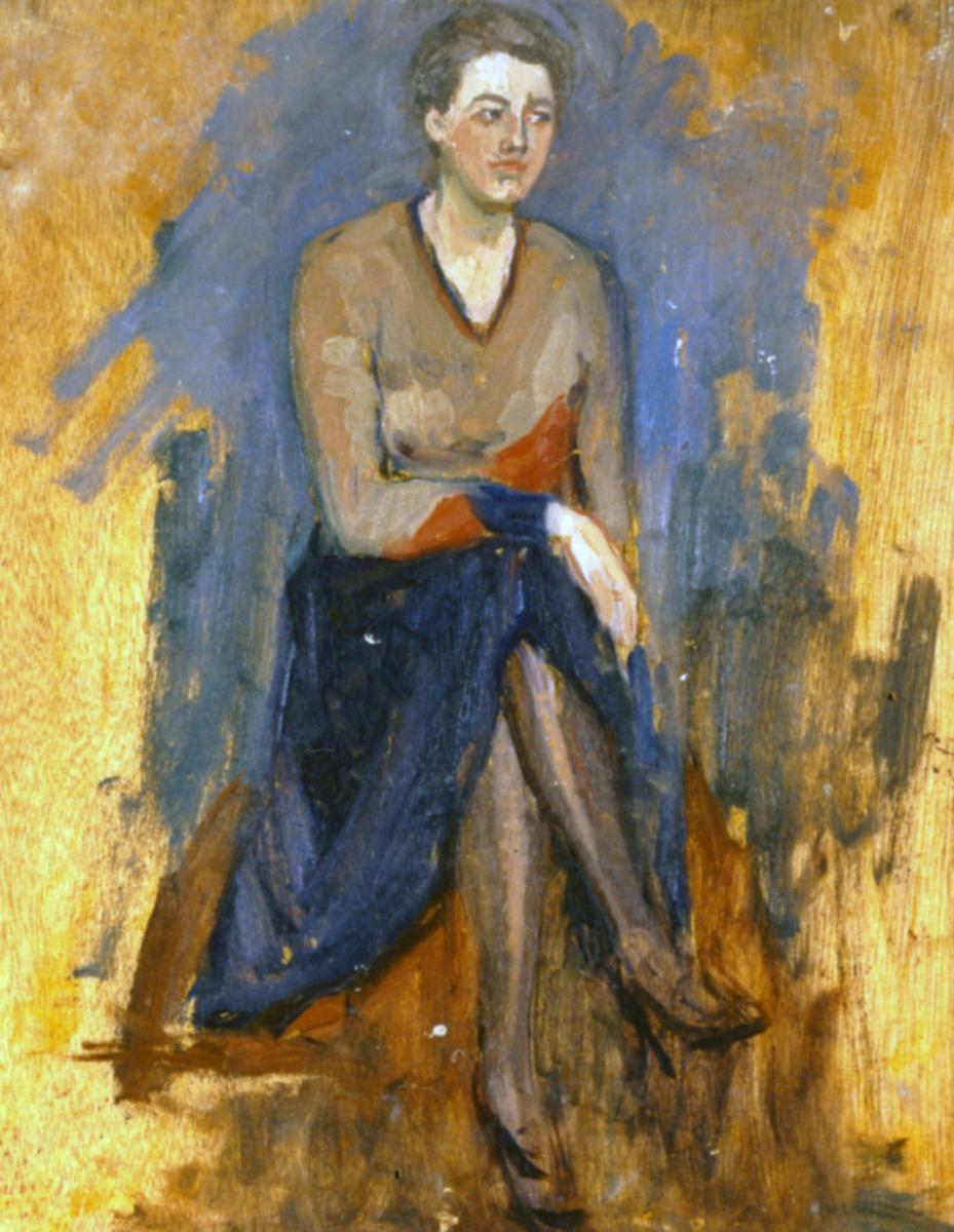 Odette Boyer-Chantoiseau. Femme assise, 1930. Collection particulière