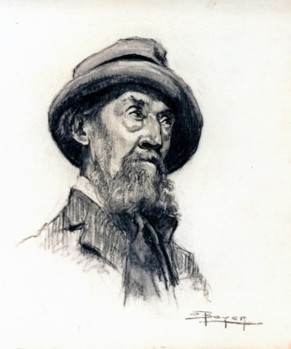 Odette Boyer-Chantoiseau. Homme âgé, 1930. Collection particulière