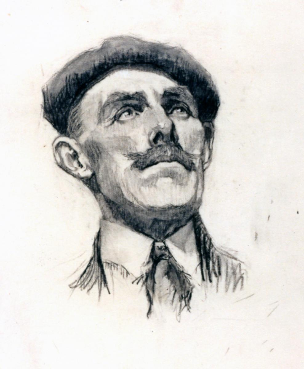Odette Boyer-Chantoiseau. Homme au béret, 1930. Collection particulière