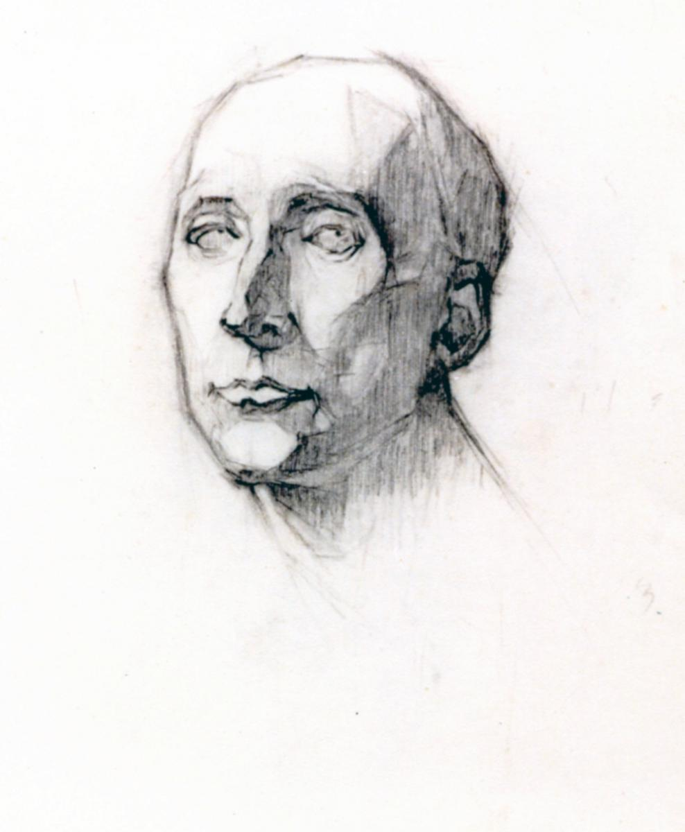 Odette Boyer-Chantoiseau. Portrait, étude. Collection particulière
