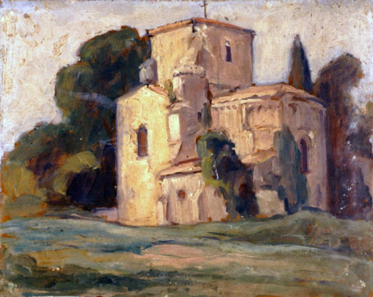 Odette Boyer-Chantoiseau. Église Saint-Étienne de Vaux-sur-Mer, 1930. Collection particulière