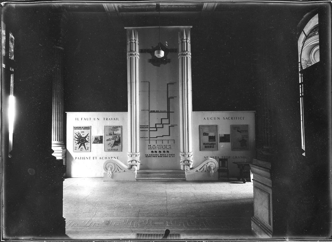 Image de l'entrée de l'exposition Reconstruire, 1946 © Documentation Musée des Beaux-Arts. Mairie de Bordeaux