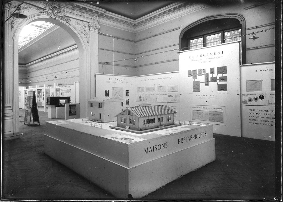 Image de l'exposition Reconstruire, 1946 © Documentation Musée des Beaux-Arts. Mairie de Bordeaux