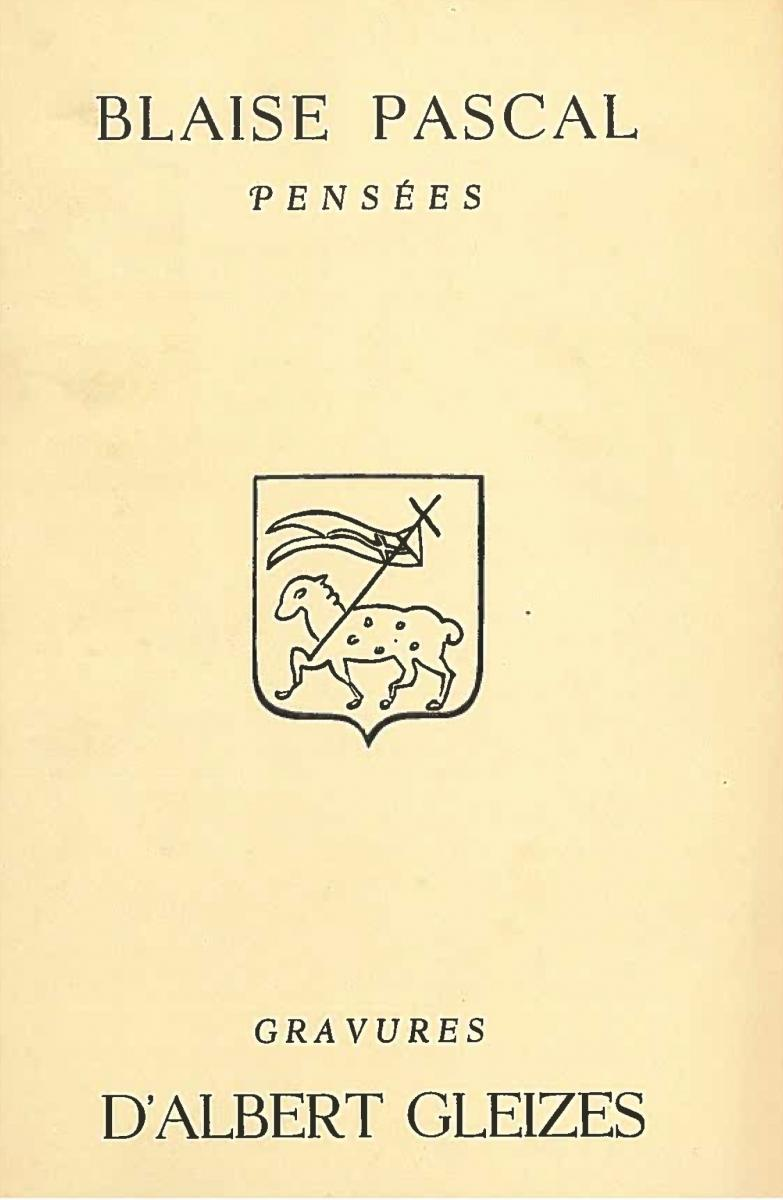 """Lien vers la documentation de l'exposition de 1951 """"Pensées de Pascal : Sur l'Homme et Dieu"""" illustré par Albert Gleizes"""