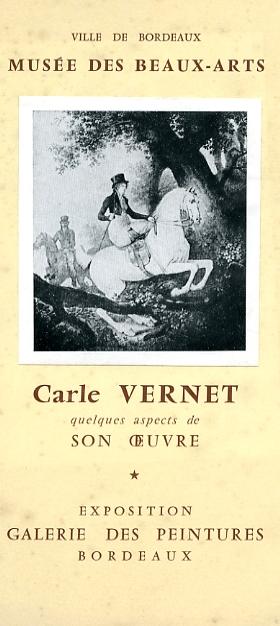 """Lien vers la brochure accompagnant l'exposition de 1959 """"Carle Vernet"""""""