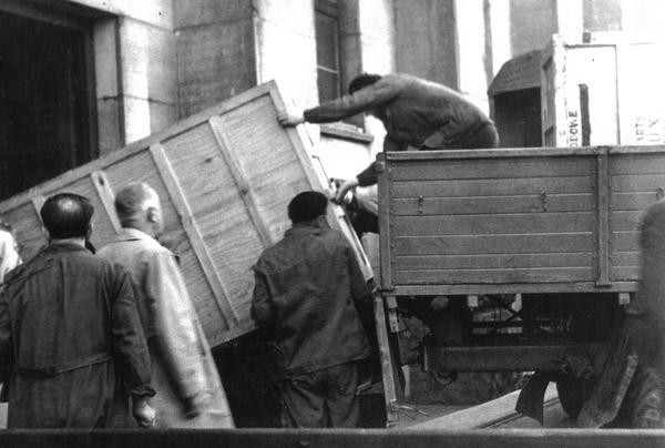 Image du transport des oeuvres
