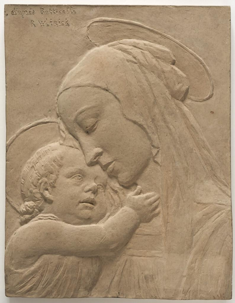 """Lien vers la notice de l'oeuvre de R. Wlerick """"Vierge à l'enfant d'après Botticelli"""" (c) Musée des Beaux-Arts - Mairie de Bordeaux. Cliché F. Deval"""